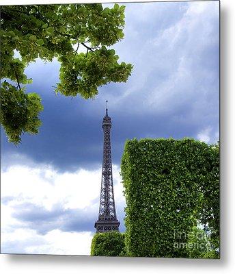 Top Of The Eiffel Tower. Paris. France. Metal Print by Bernard Jaubert