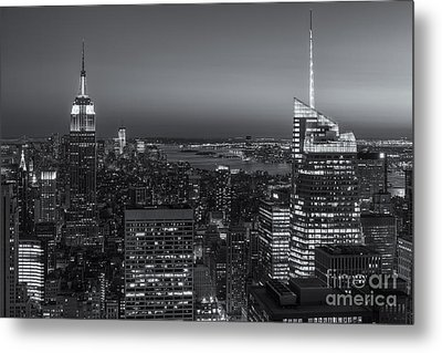 Top Of The Rock Twilight V Metal Print by Clarence Holmes