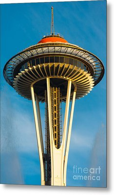 Top Of The Space Needle Metal Print by Inge Johnsson