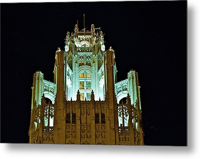 Top Of The Tribune Tower Metal Print