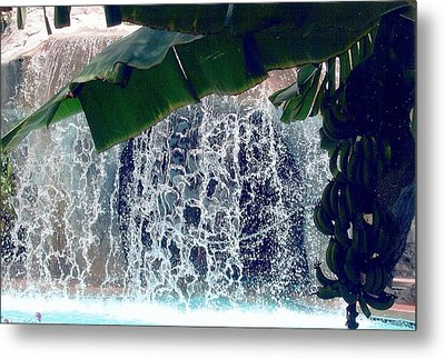 Metal Print featuring the photograph Topical Water Fall by Judy Palkimas