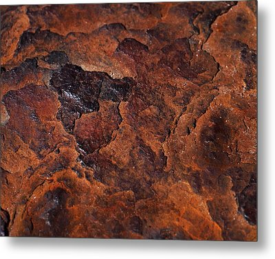 Topography Of Rust Metal Print