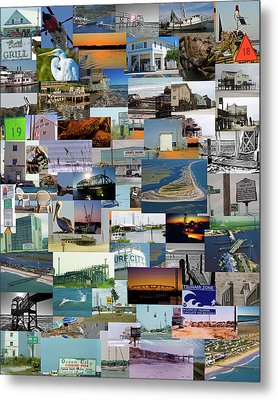 Topsail Island Nc Collage  Metal Print by Betsy Knapp