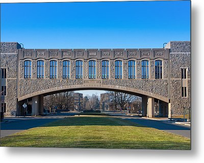 Torgersen Hall At Virginia Tech Metal Print by Melinda Fawver