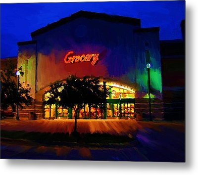Metal Print featuring the digital art Torget Super Store A by P Dwain Morris