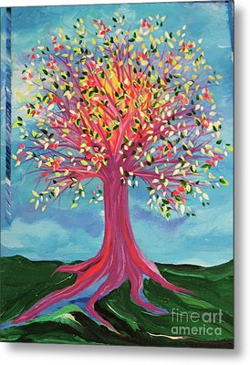 Metal Print featuring the painting Tori's Tree By Jrr by First Star Art