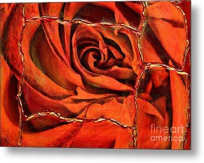 Torn Rose Metal Print by Pattie Calfy