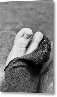 Torn Sock Metal Print