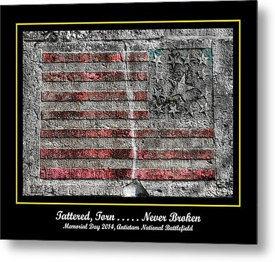 Tattered Torn . . . . . Never Broken - Memorial Day 2014 Antietam National Battlefield Metal Print by Michael Mazaika