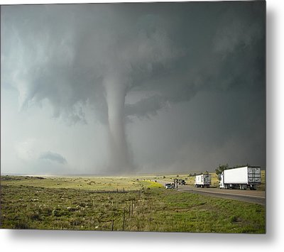 Metal Print featuring the photograph Tornado Truck Stop by Ed Sweeney