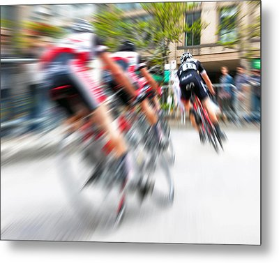 Toronto Criterium Bicycle Race Special Fx - Lucky Number 13 Metal Print by Brian Carson