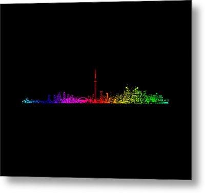 Toronto Rainbow Metal Print by Brian Carson