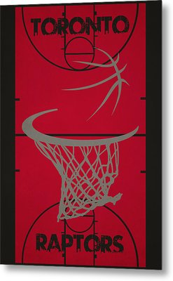 Toronto Raptors Court Metal Print by Joe Hamilton