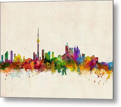 Toronto Skyline Metal Print by Michael Tompsett