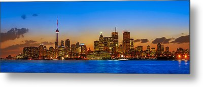 Toronto Skyline Panorama Metal Print by Sebastian Musial