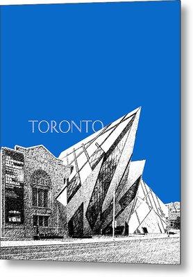 Toronto Skyline Royal Ontario Museum - Blue Metal Print