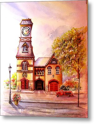 Toronto's Old Yorkville Fire Hall Metal Print by Patricia Schneider Mitchell