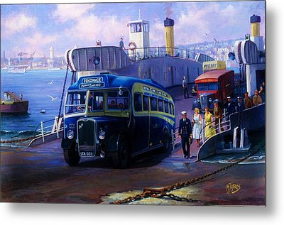 Torpoint Ferry. Metal Print by Mike  Jeffries