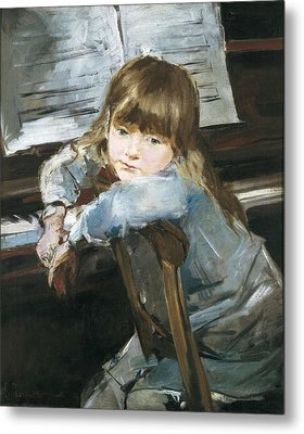 Torrescassana, Francesc 1845-1918. Girl Metal Print by Everett