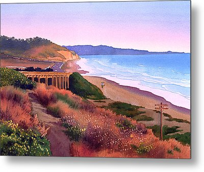Torrey Pines Dusk Metal Print by Mary Helmreich