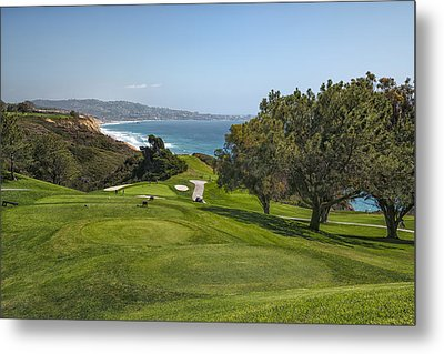 Torrey Pines Golf Course North 6th Hole Metal Print by Adam Romanowicz