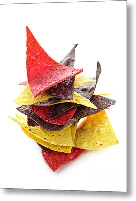 Tortilla Chips Metal Print by Elena Elisseeva