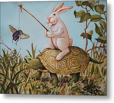 Tortoise And The Hare Metal Print
