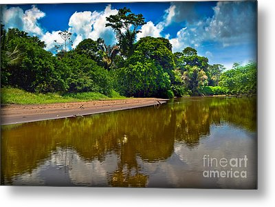 Tortuguero River Canals Metal Print by Gary Keesler