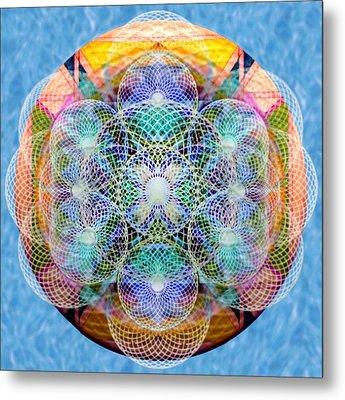 Torusphere Synthesis Cell Firing Soulin IIi Metal Print by Christopher Pringer