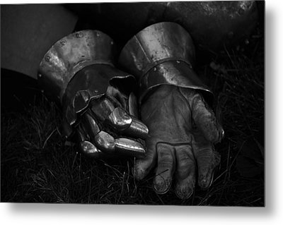 Tossing The Gauntlet Metal Print