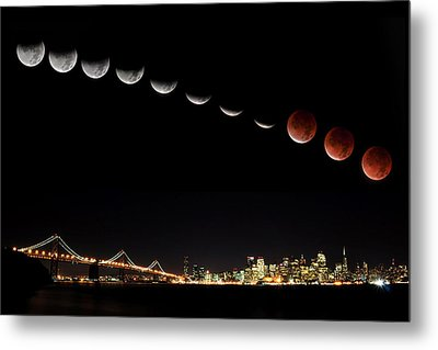 Total Eclipse Of The Moon Metal Print