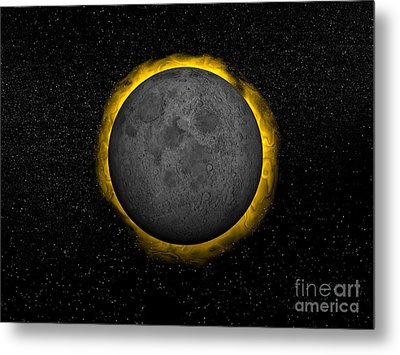 Total Eclipse Of The Sun Metal Print