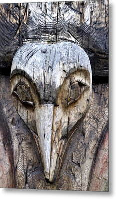 Totem Face Metal Print by Cathy Mahnke