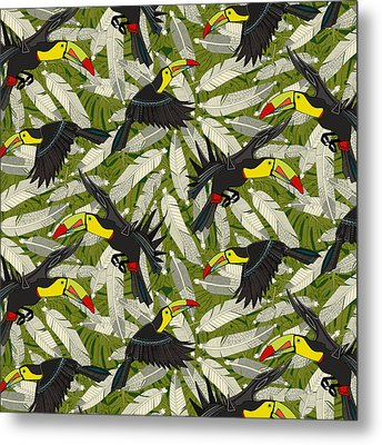 Toucan Jungle Metal Print