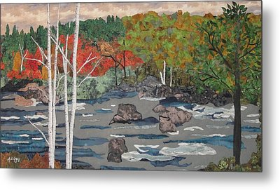 Touch Of Autumn Metal Print by Anita Jacques