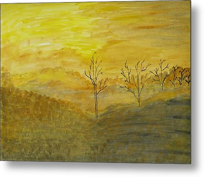 Touch Of Gold Metal Print