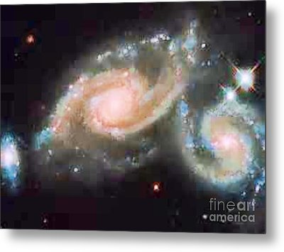 Touching Galaxies Metal Print