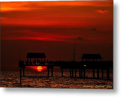 Touching The Sunset Metal Print