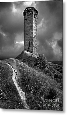 Tour De La Clauze Tower. Saugues. Haute-loire Department. Auvergne. France Metal Print by Bernard Jaubert