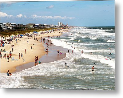 Tourist At Kure Beach Metal Print