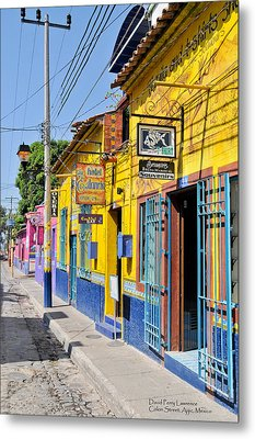 Metal Print featuring the photograph Tourist Shops - Mexico by David Perry Lawrence