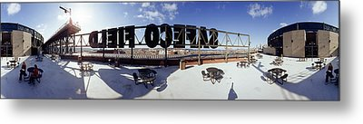 Tourist Sitting On A Roof Metal Print by Panoramic Images