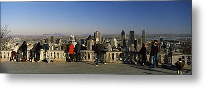 Tourists At An Observation Point Metal Print