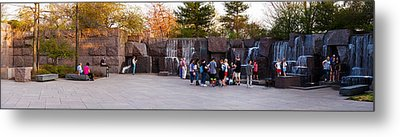 Tourists At Franklin Delano Roosevelt Metal Print by Panoramic Images