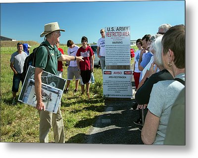 Tourists At Historic Missile Base Metal Print by Jim West