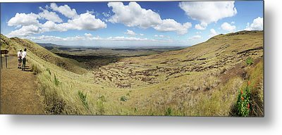 Tourists Near The Masaya Volcano Metal Print by Panoramic Images