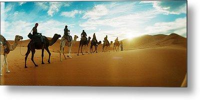 Tourists Riding Camels Metal Print