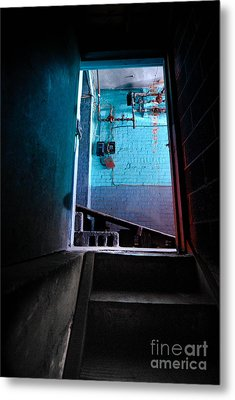 Towards The Glow Metal Print by Amy Cicconi