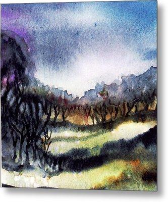 Towards The Misty Bogland  Metal Print by Trudi Doyle