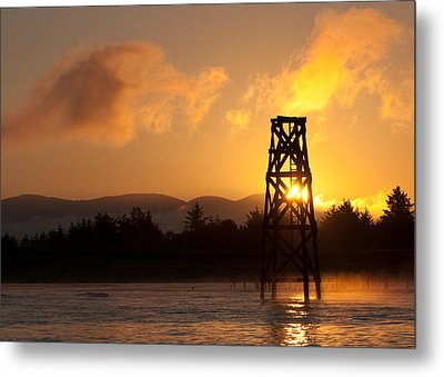 Metal Print featuring the photograph Tower At Dawn by Erin Kohlenberg